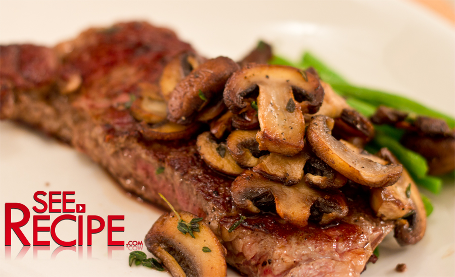 how to cook mushrooms to go with steak